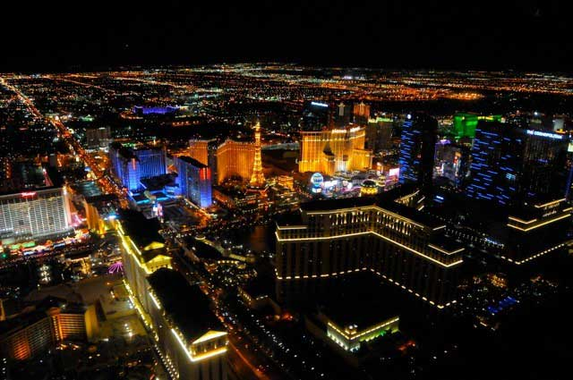Helicopter Flight Ceremony over the Las Vegas Strip