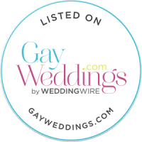 Listed on Gay Weddings round-white-badge