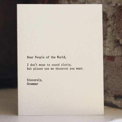 Love, Letterpress