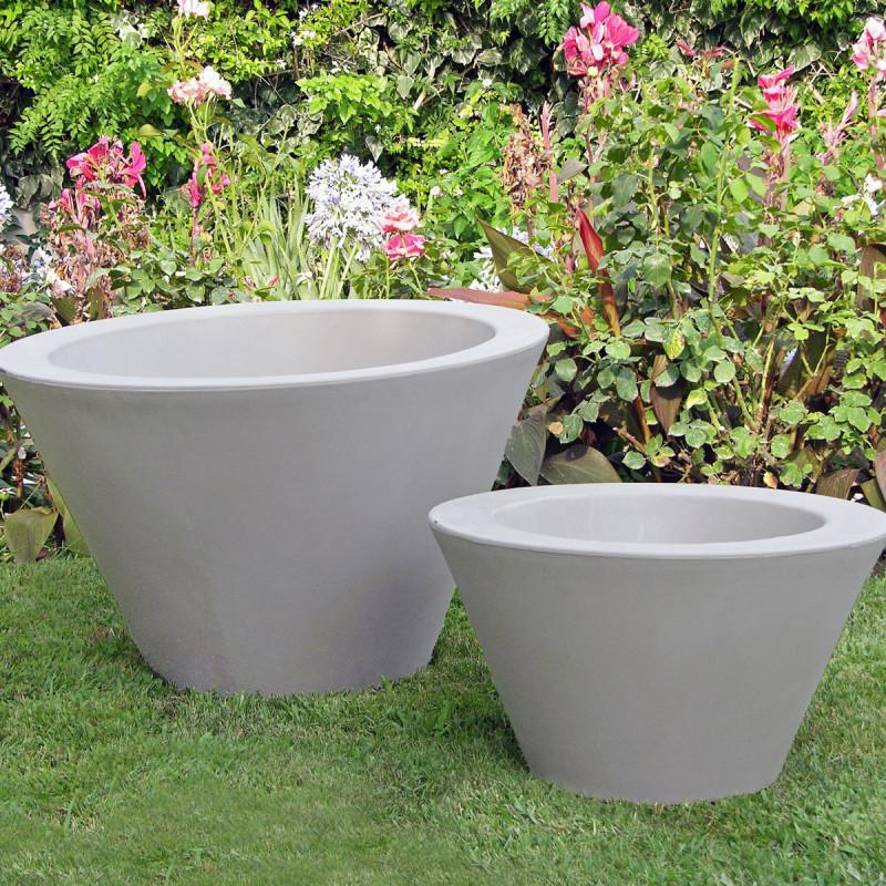 petit x pot blanc slide design blanc hauteur 50 cm