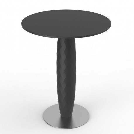 table ronde vases vondom noir diametre 70 cm