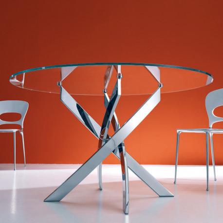 table elica ronde transparent extraclaire diametre 110 cm
