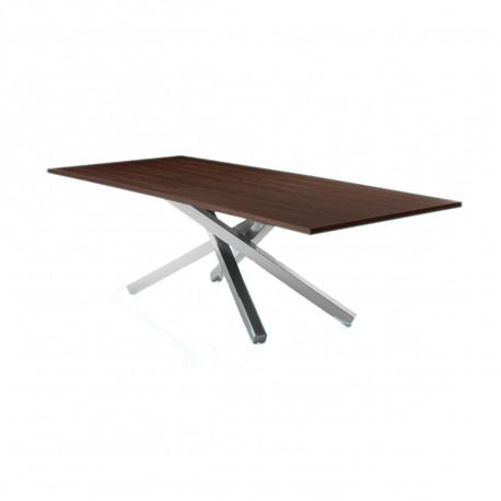 table pechino midj plateau bois pieds acier 250 cm x106 cm