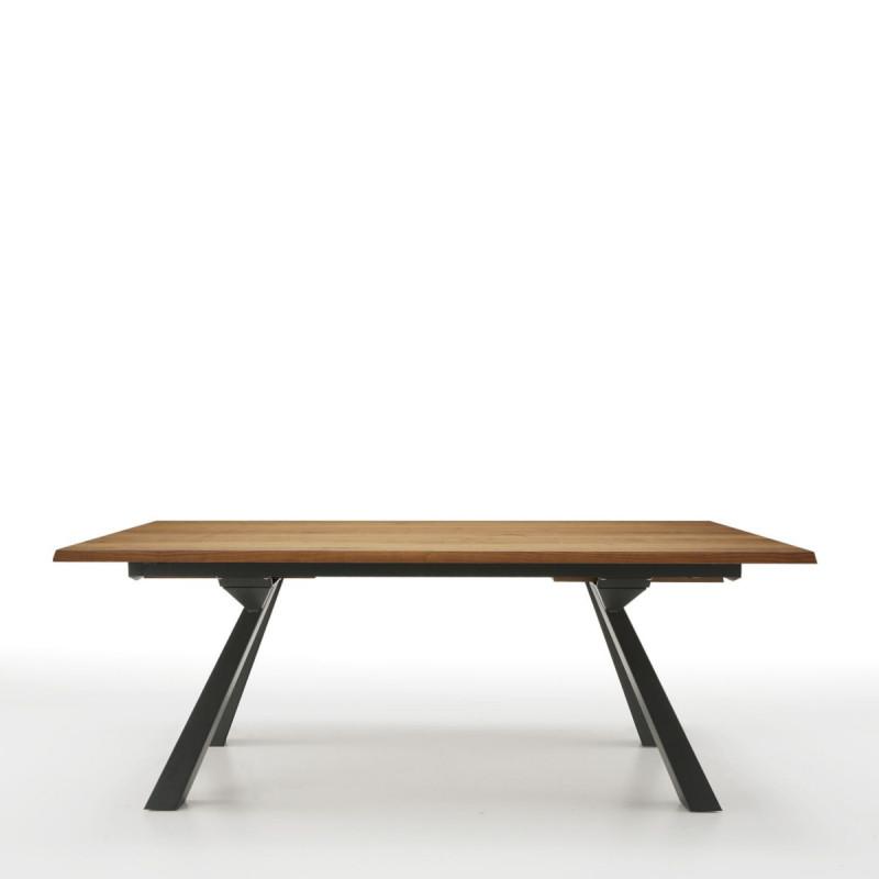 table zeus mt midj plateau bois pieds acier 250cm x106 cm