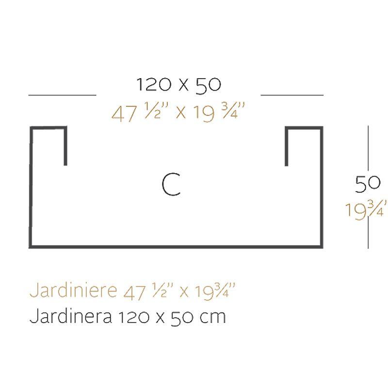 jardiniere rectangulaire grande taille jardinera blanc vondom simple paroi longueur 120x50xh50 cm