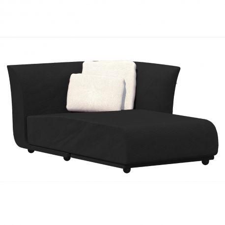 salon d ete suave module chaise longue gauche vondom tissu deperlant gris anthracite 1044