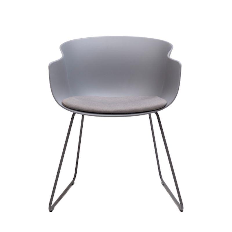chaise luge bai avec coussin d assise en tissu era present ondarreta gris anthracite