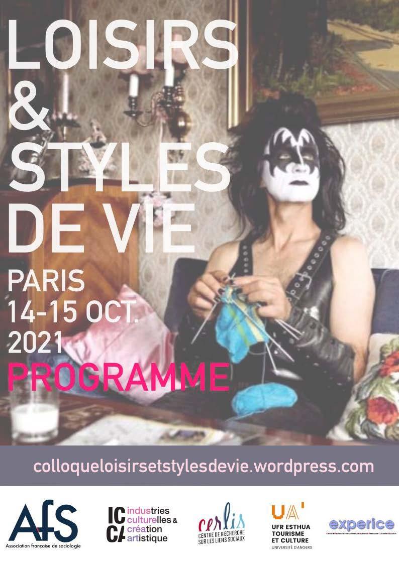 """<strong> Les 14-15 octobre 2021 </strong> – Colloque """"Loisirs et styles de vie"""""""