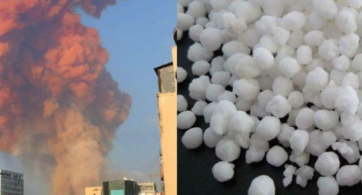 Nitrato de amonio: comburente altamente peligroso