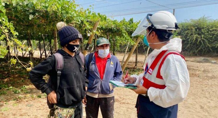 Sunafil orienta a trabajadores agrarios sobre derechos laborales