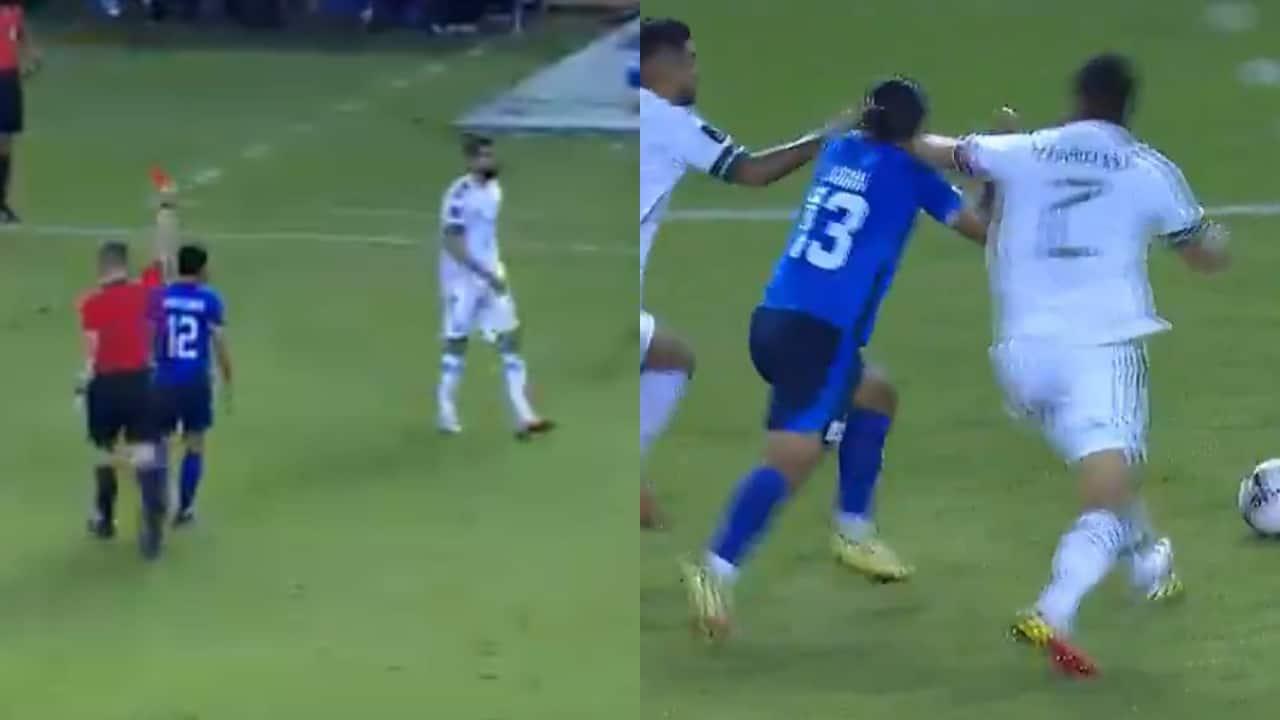 Selección Mexicana Néstor Araujo expulsado codazo El Salvador-qatar-2022-eliminatoria