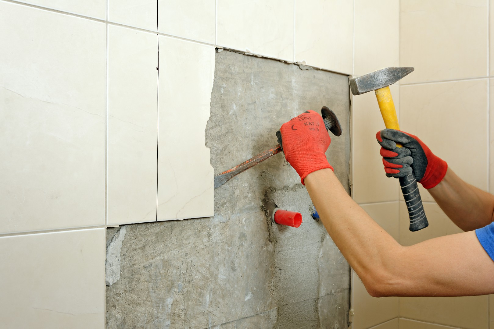 remove floor and wall tiles