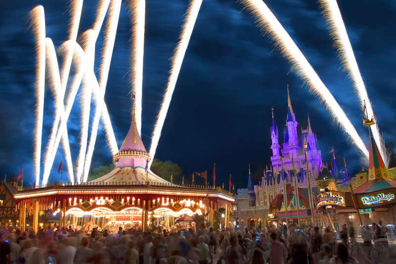 Disney World Fireworks from Fantasyland