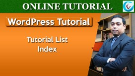 WordPress Tutorial List Index