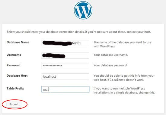 Step 9 How to Install WordPress Database Information