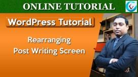 Rearrange Post Writing Screen