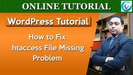 fix htaccess missing problem