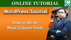 WordPress Write Multi-Column Posts