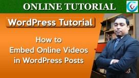 Add Embed Video in WordPress Thumb