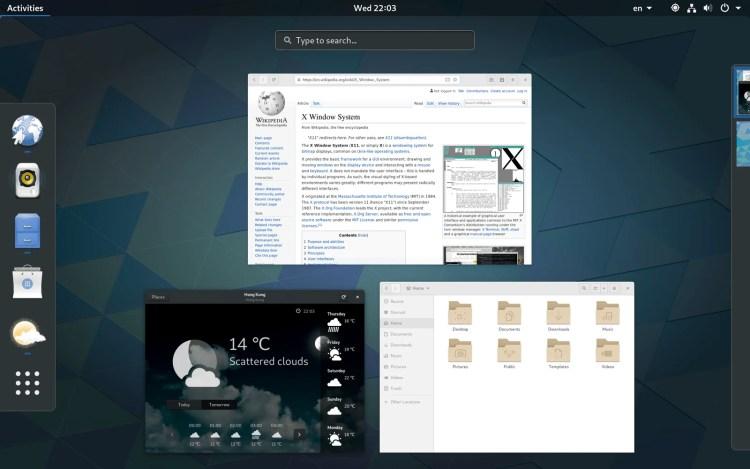 1600px-GNOME_Shell O que as distribuições Linux tem em comum?