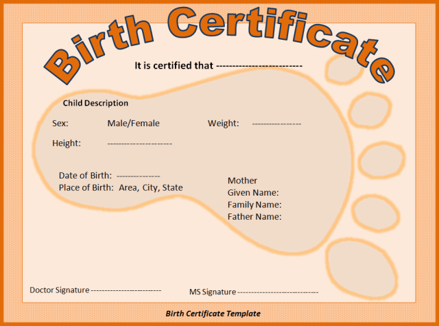 Fake birth certificate template free download yadclub Image collections