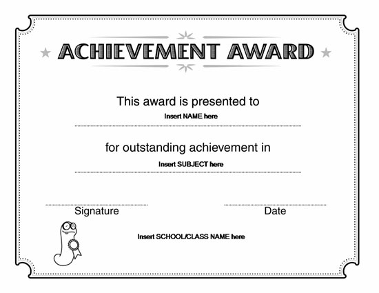 Doc33002550 Free Blank Printable Certificates Free Printable – Free Certificate of Achievement
