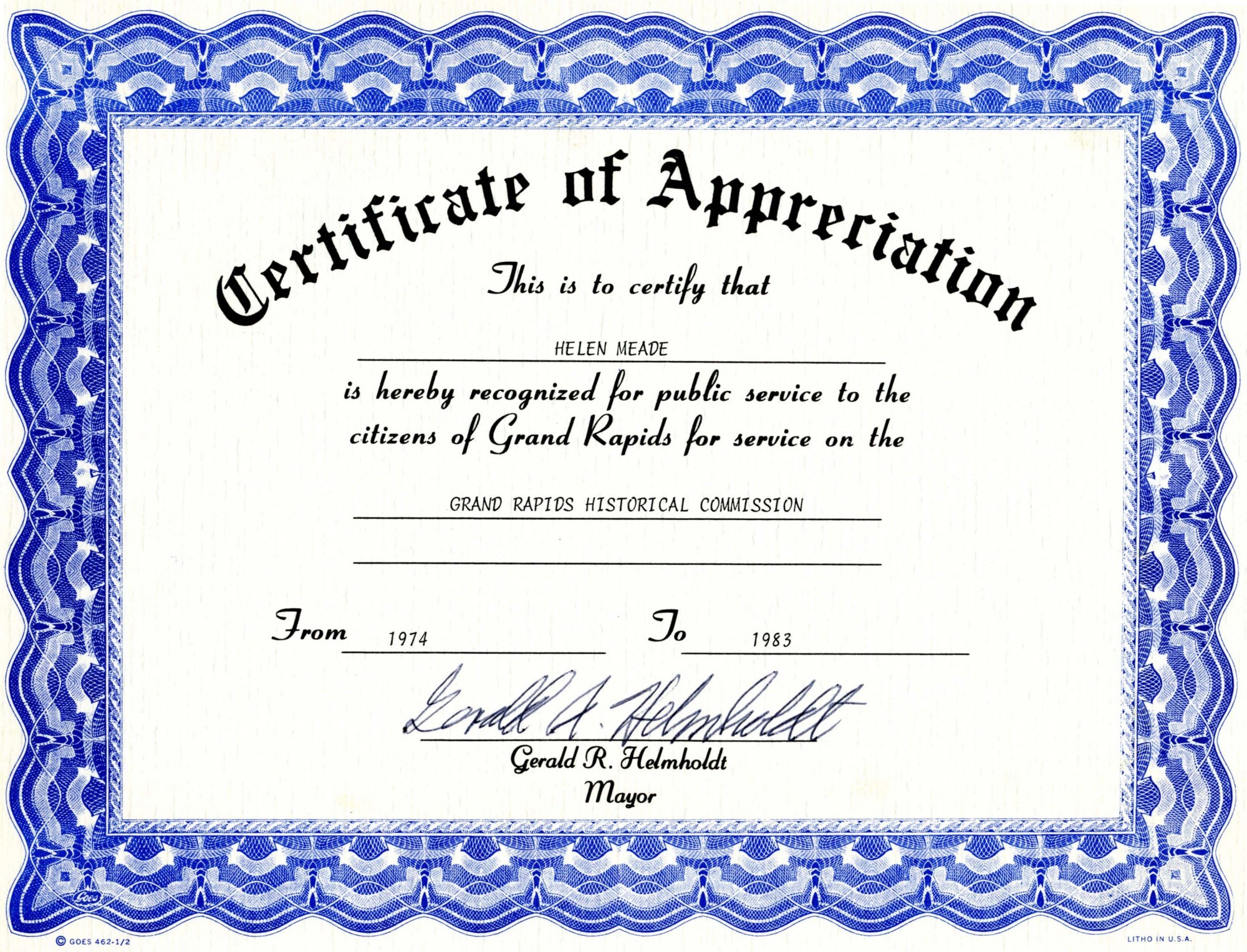 Recognition Certificates Wording pipeline inspectors – Sample of Certificate of Recognition