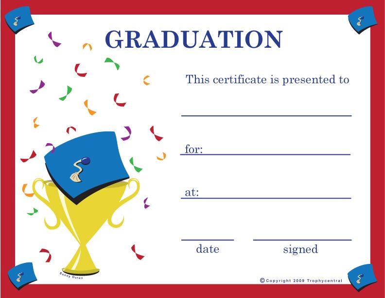 Doc620479 Graduation Certificate Template Free – Graduation Certificate Template Free