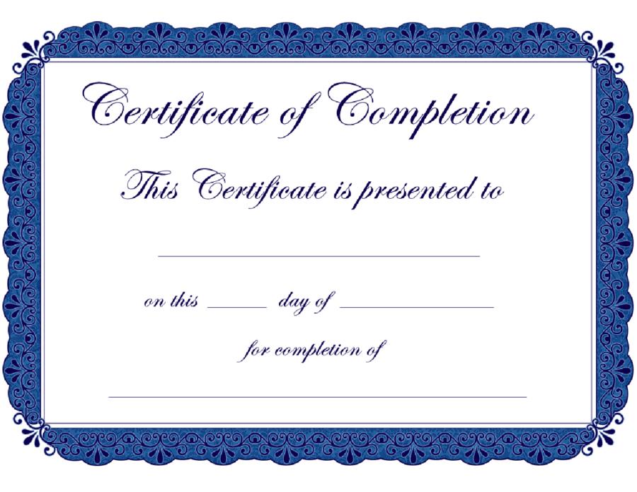Premarital Counseling Certificate Template