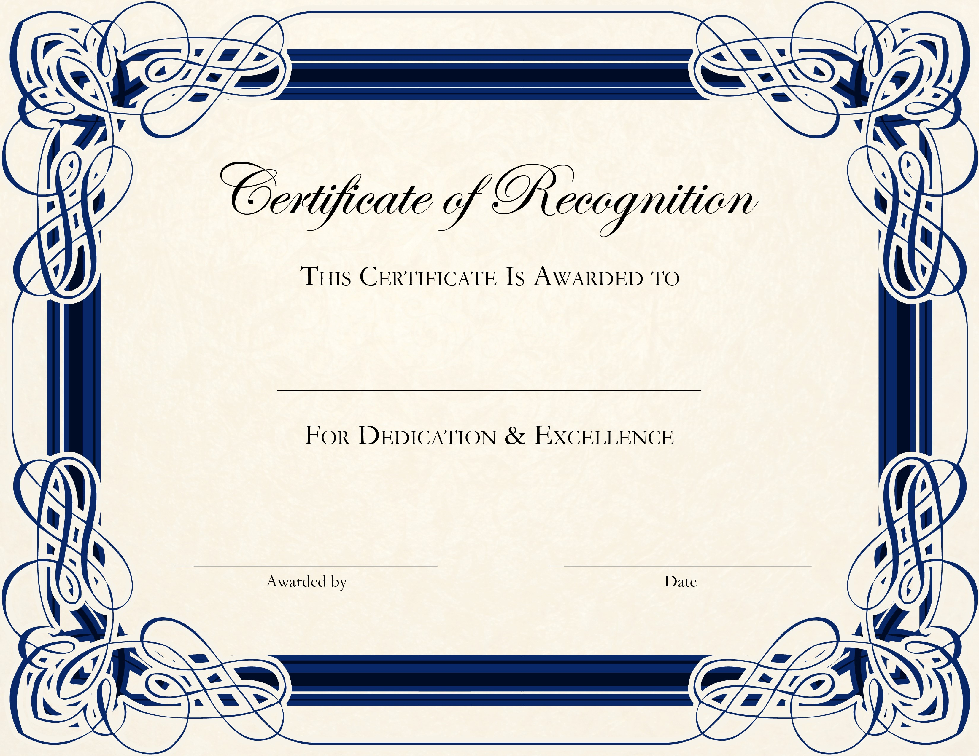 Certificate Template Free Printable Certificates