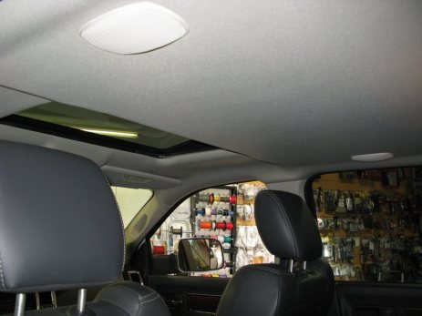 The sunroof in this Dodge Ram is no problem for our technicians.