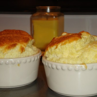 Parmesan and Gruyere Cheese Souffle