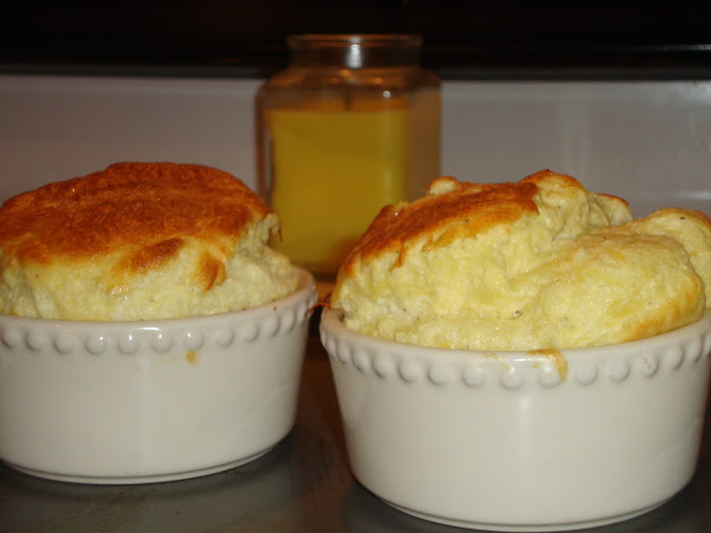 Parmesan and Gruyere Cheese Soufflé