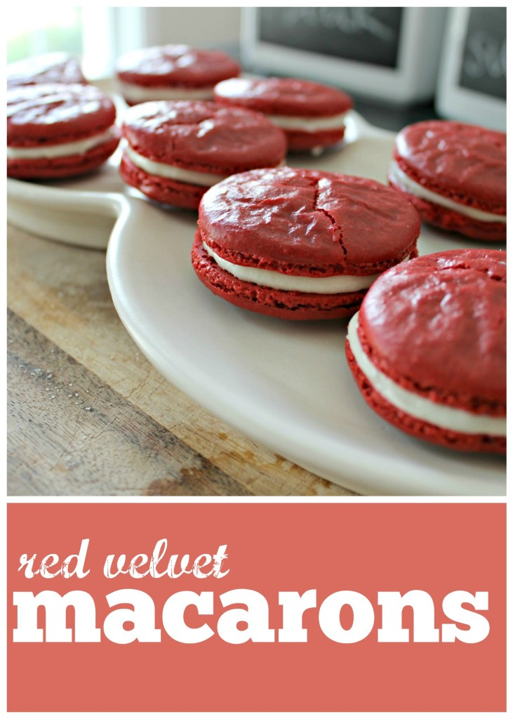 Red Velvet Macarons photo collage