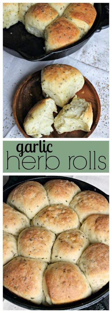 garlic herb rolls photo collage