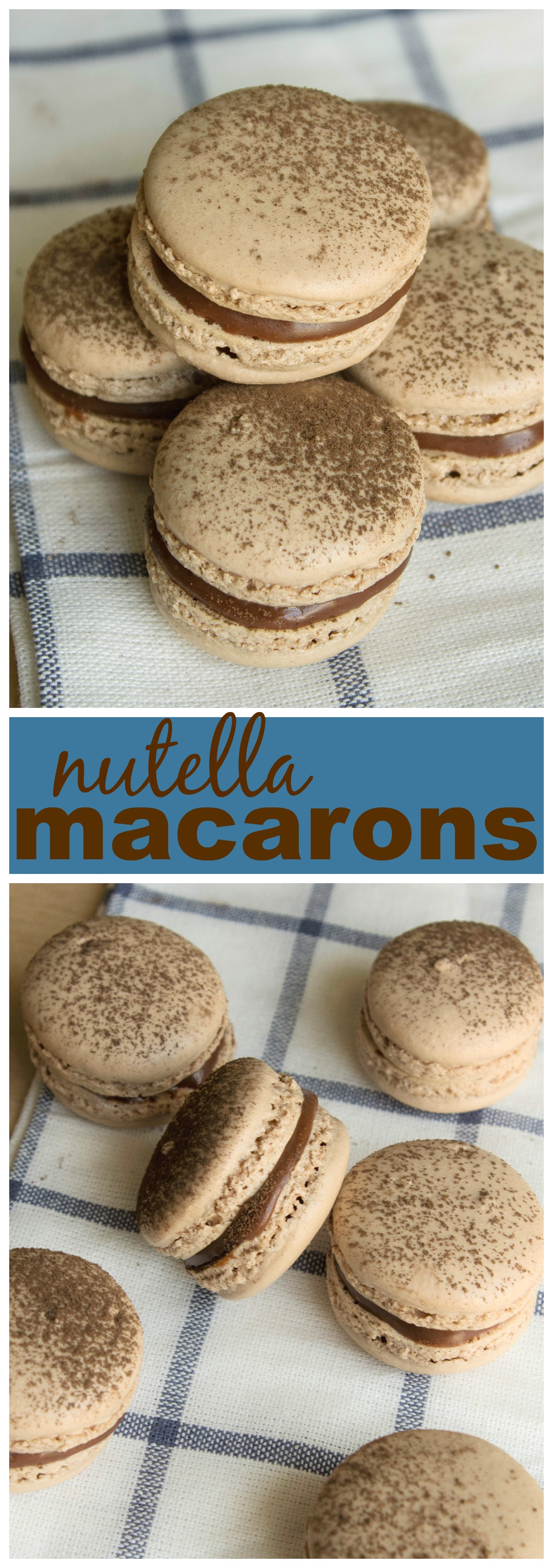 Nutella Macarons picture collage
