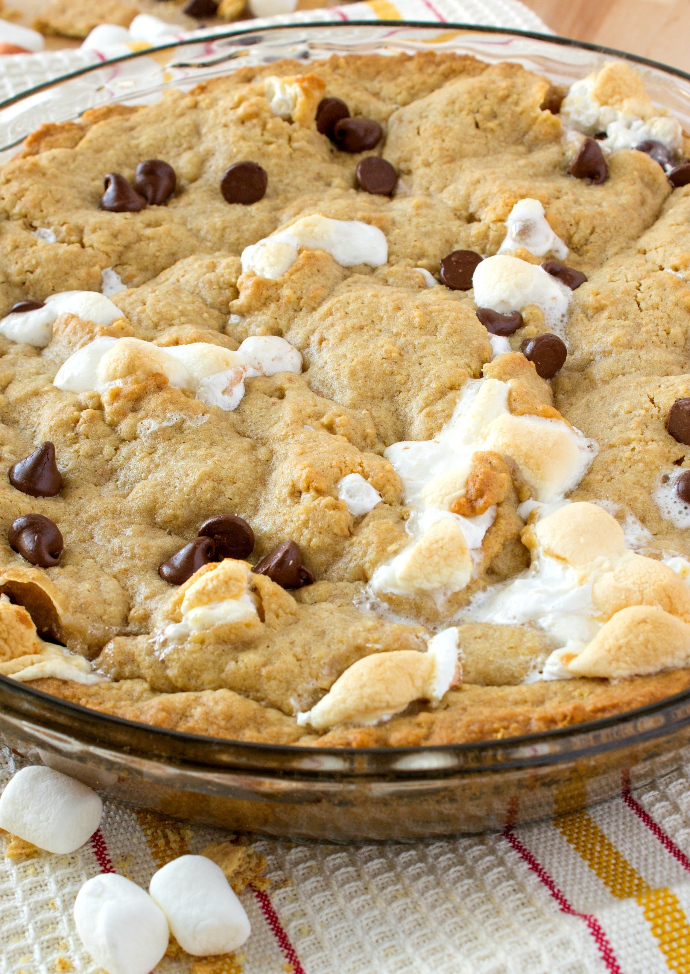 s'mores cookie cake