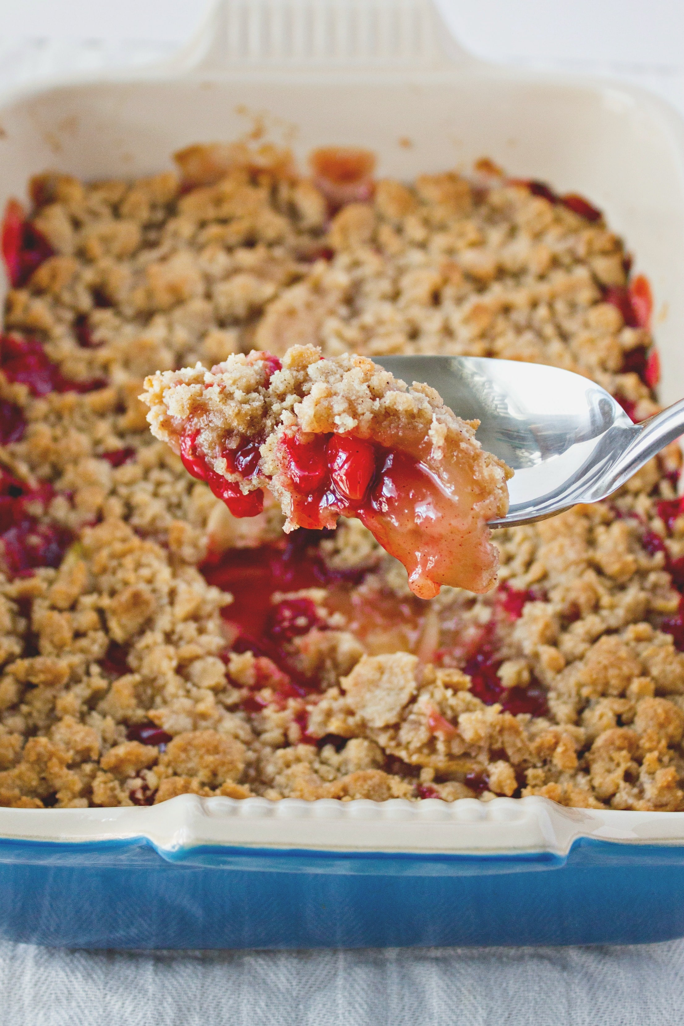 Pan of Cranberry Apple Crumble