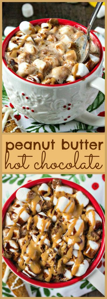 Peanut Butter Hot Chocolate photo collage