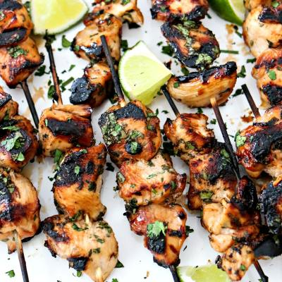 Grilled Cilantro Lime Chicken Skewers