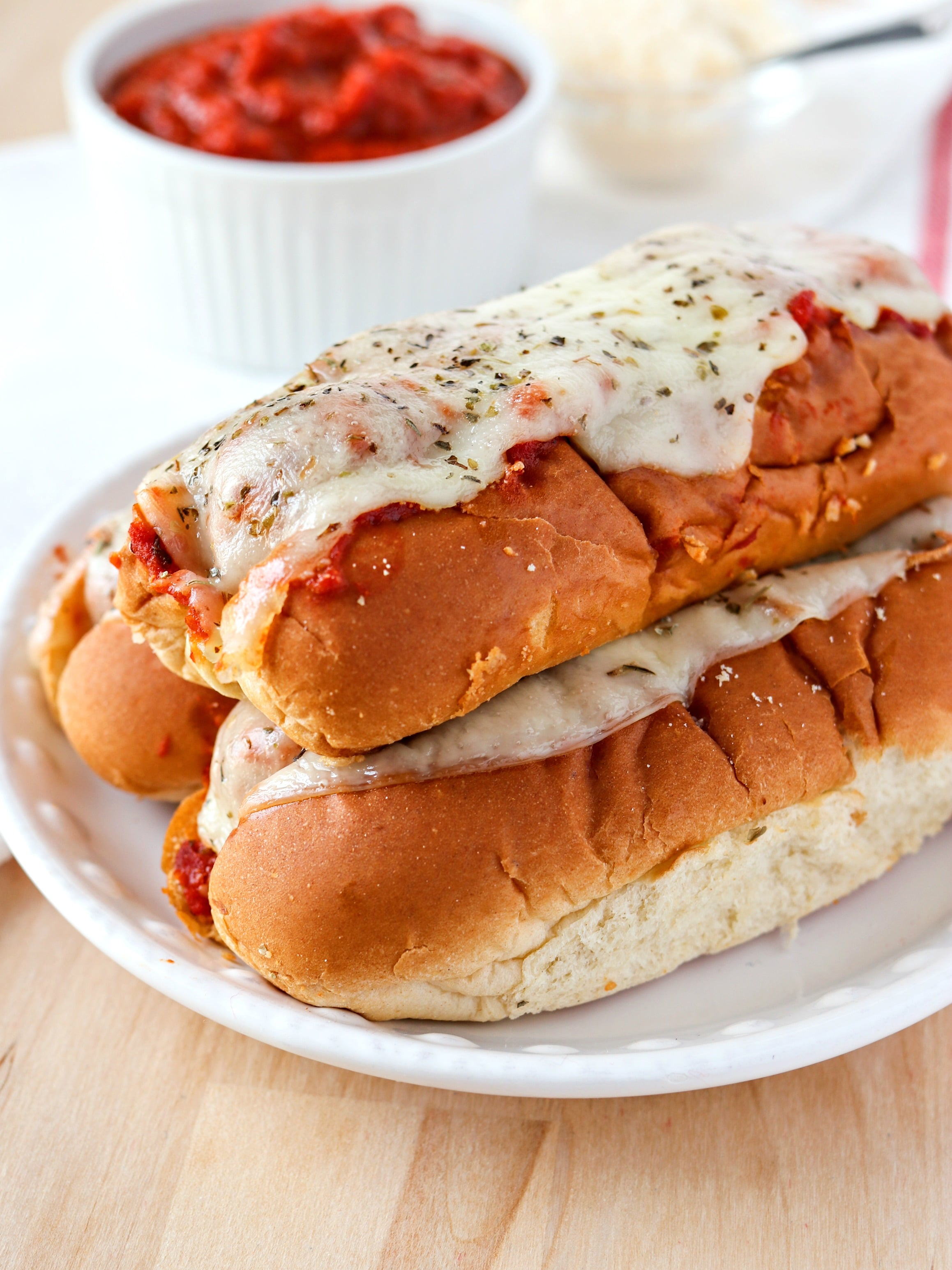 Stack of Easy Meatball Subs