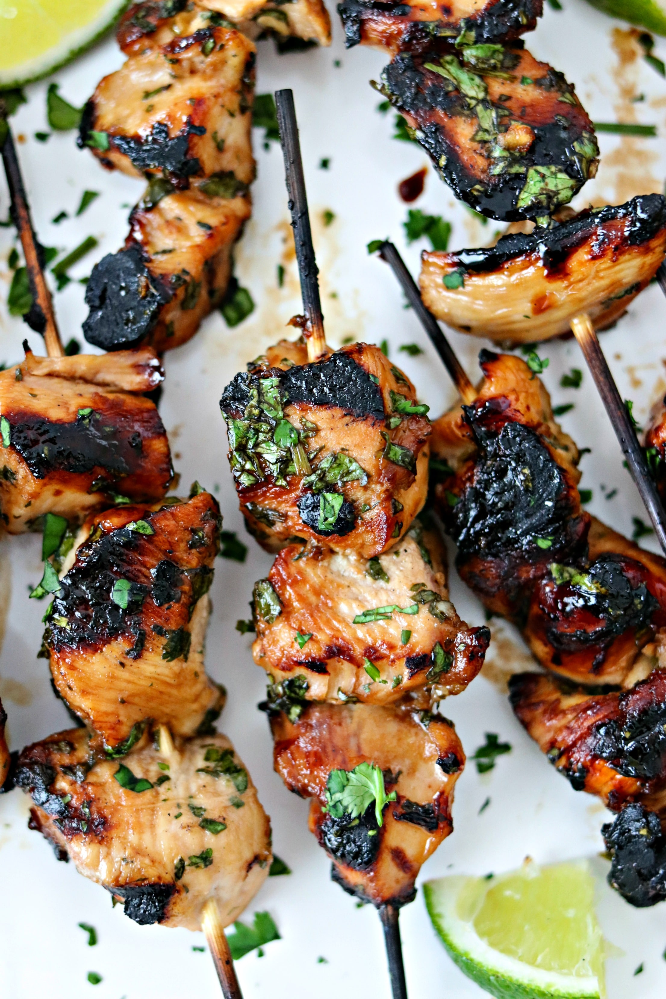 Finished Grilled Cilantro Lime Chicken Skewers