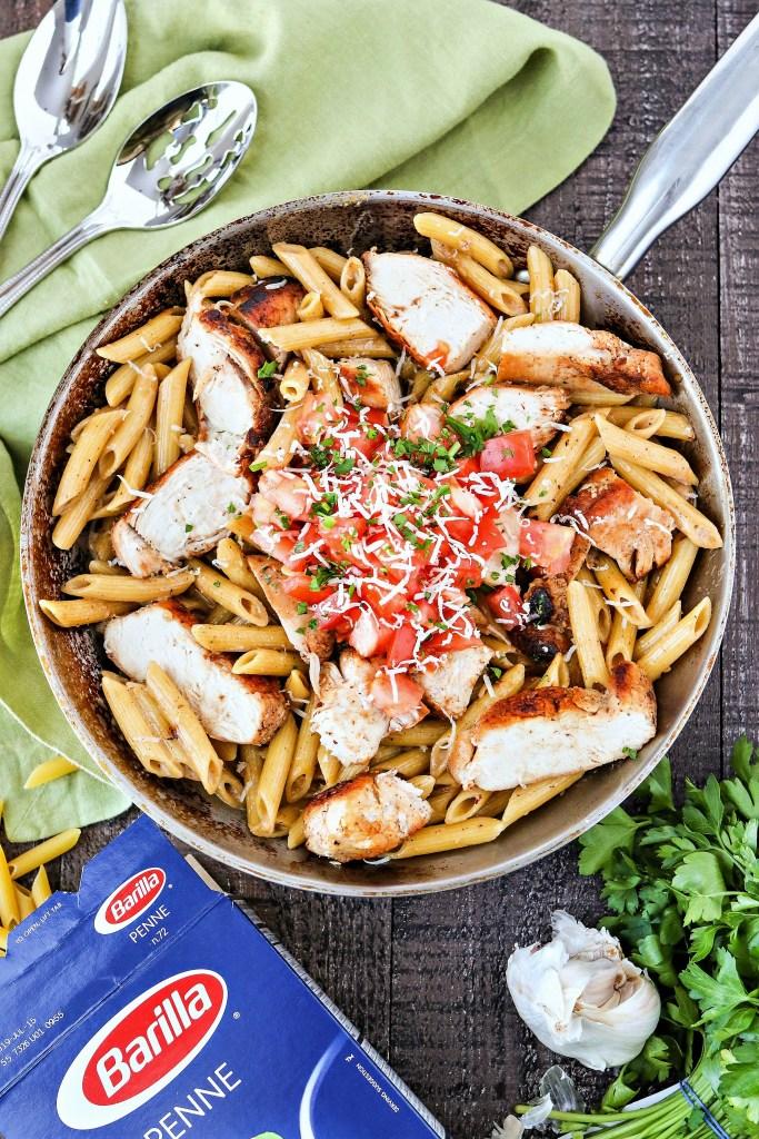styled shot of Cajun Chicken Pasta