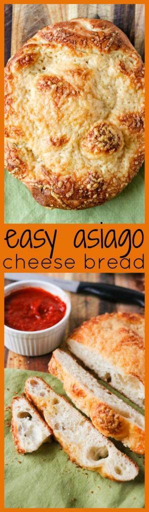 Easy Asiago Cheese Bread photo collage