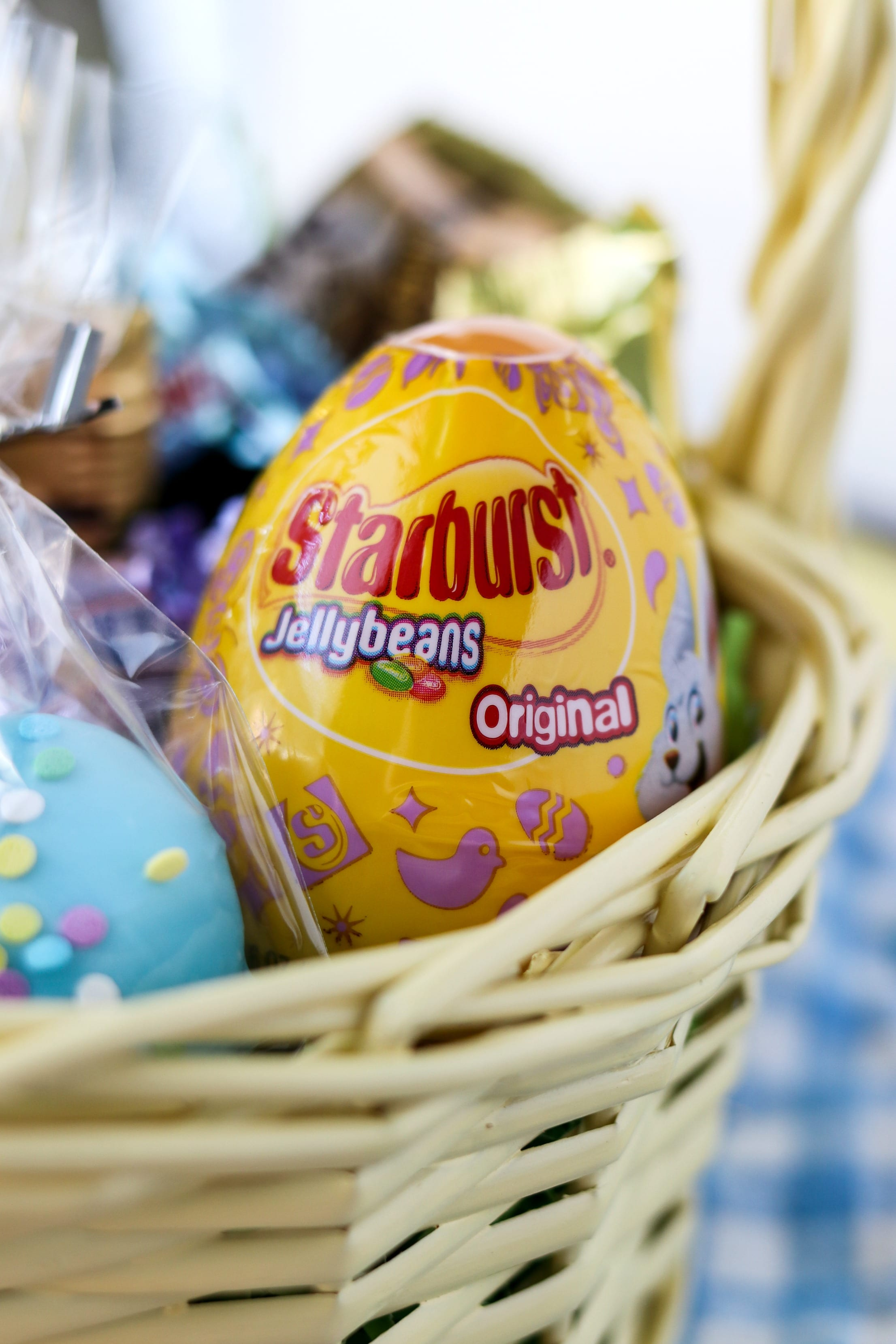 Easter egg packaging of starburst jellybeans