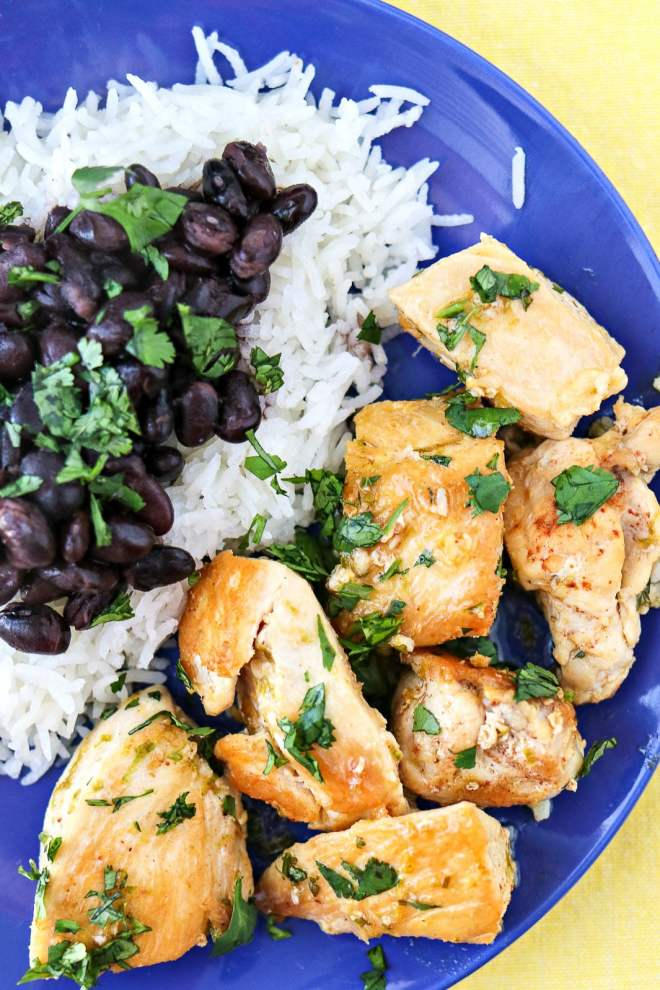 Cilantro Lime Chicken Bites - A super quick and easy dinner idea that's made with chicken, cilantro, lime, and garlic. Ready in less than 20 minutes!