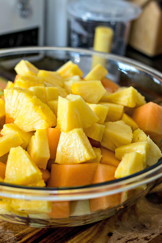 Chunks of pineapple