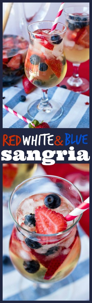 Red, White, & Blue Sangria photo collage