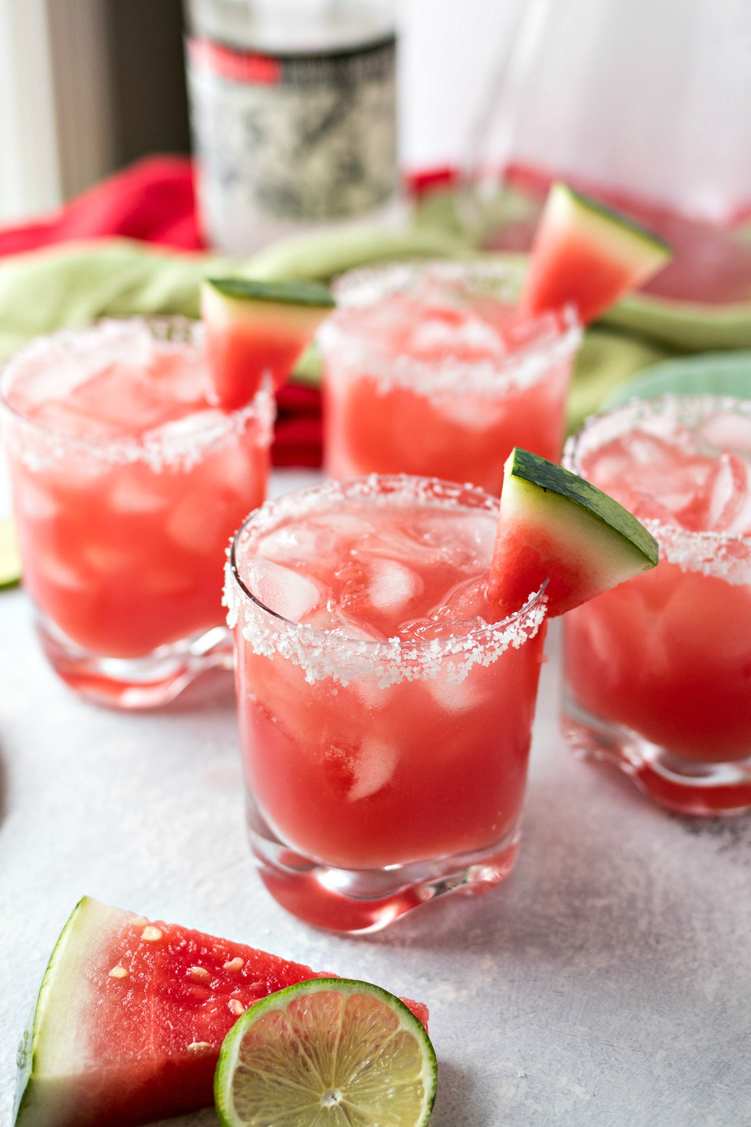 Glasses of Watermelon Margarita
