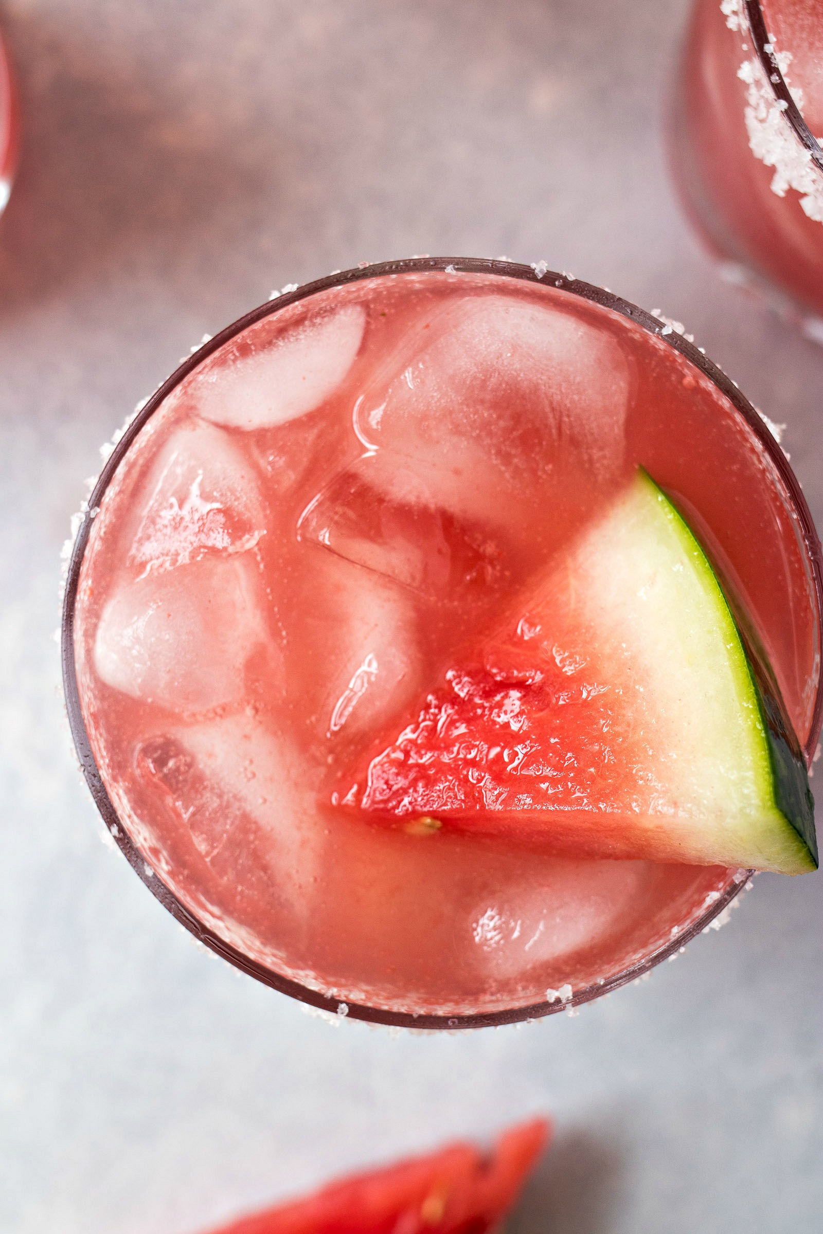 Top view of Watermelon Margaritas